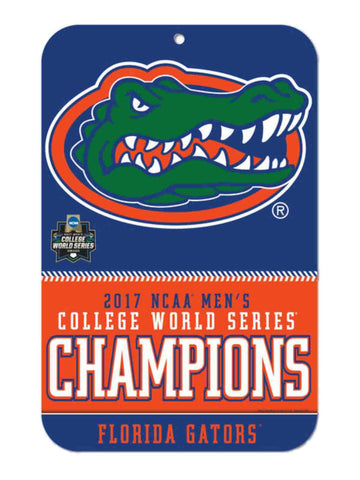 Florida Gators 2017 NCAA College World Series CWS Champions Plastic Wall Sign