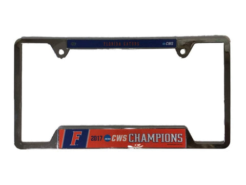 Florida Gators 2017 NCAA College World Series Champs Metal License Plate Frame
