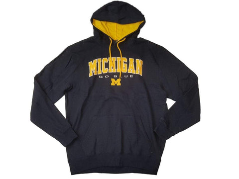 Michigan Wolverines Colosseum Navy & Yellow Long Sleeve Hoodie Sweatshirt (L)