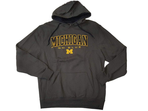 "Michigan Wolverines Colosseum Charcoal Gray ""Go Blue"" LS Hoodie Sweatshirt (L)"