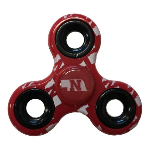 Nebraska Cornhuskers NCAA Red Multi-Logo Three Way Diztracto Fidget Hand Spinner