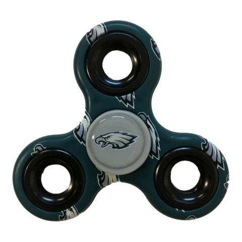 Philadelphia Eagles NFL Green Multi-Logo Three Way Diztracto Fidget Hand Spinner