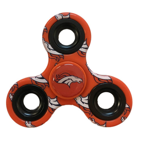 Shop Denver Broncos NFL Orange Multi-Logo Three Way Diztracto Fidget Hand Spinner