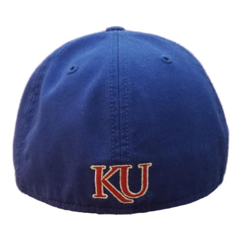 eeee60f035b1f ... Kansas Jayhawks 47 Brand Gray   Blue Franchise Fitted Slouch Relax Hat  Cap