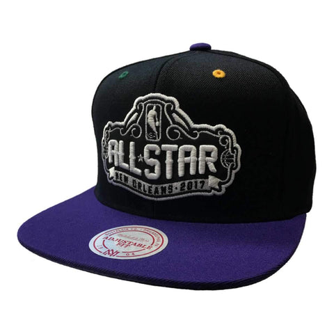 All Star Game 2017 New Orleans Mitchell & Ness Black Snapback Flat Bill Hat