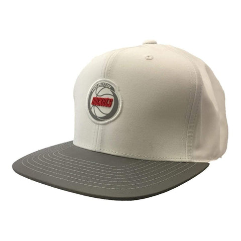 Shop Houston Rockets Mitchell & Ness Hardwood Classics Strapback Flat Bill Hat Cap
