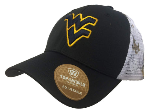 West Virginia Mountaineers TOW Black Realtree Xtra Mesh Pierce Adjust Hat Cap