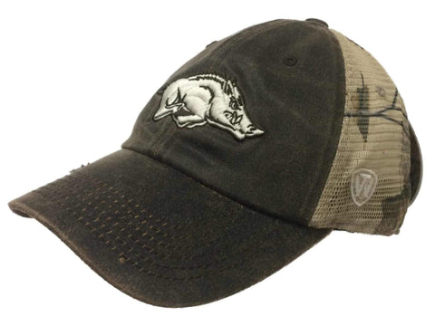 Shop Arkansas Razorbacks TOW Brown Realtree Camo Mesh Adjustable Snapback Hat Cap