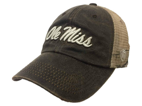 Ole Miss Rebels TOW Brown Realtree Camo Mesh Adjustable Snapback Hat Cap