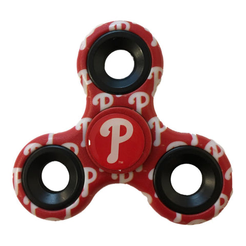 Shop Philadelphia Phillies MLB Red Multi-Logo Three Way Diztracto Fidget Hand Spinner