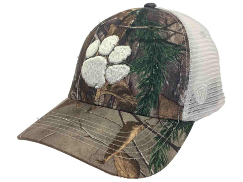 Shop Clemson Tigers TOW Realtree Camouflage Mesh Yonder Adjustable Snapback Hat Cap