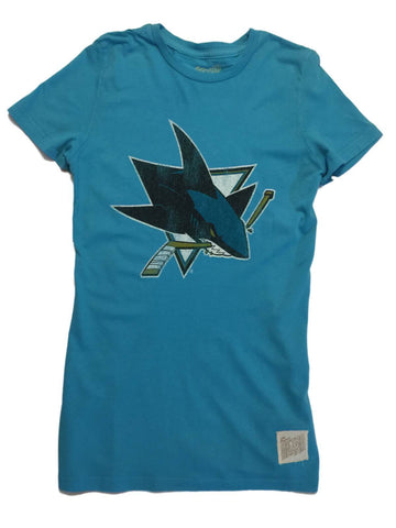 San Jose Sharks Retro Brand WOMEN Teal Vintage Short Sleeve Crew T-Shirt