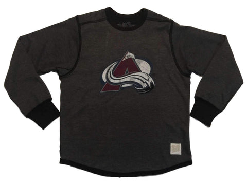 Shop Colorado Avalanche Retro Brand Gray Vintage Style Pullover Sweatshirt