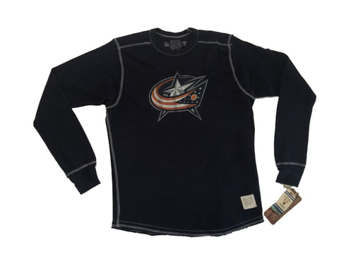 Shop Columbus Blue Jackets Retro Brand Navy Lightweight Crew Neck Sweatshirt - Sporting Up
