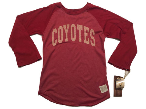 Shop Arizona Coyotes Retro Brand WOMEN Red 3/4 Sleeve Raglan T-Shirt