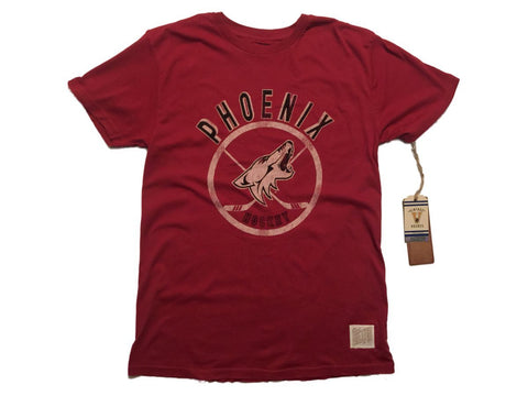 Shop Phoenix Coyotes Retro Brand Dark Red Vintage Cotton Short Sleeve T-Shirt - Sporting Up