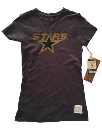 Shop Dallas Stars Retro Brand WOMEN Gray Vintage Crew Neck Cotton T-Shirt