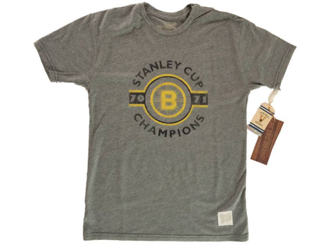 Shop Boston Bruins Retro Brand 1970-1971 Stanley Cup Champions Gray T-Shirt