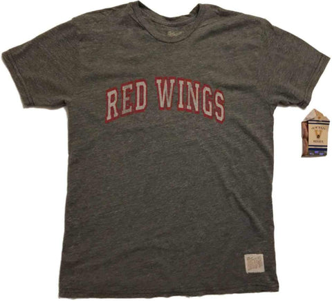"Shop Detroit Red Wings Retro Brand Gray ""Red Wings"" Vintage Tri-Blend T-Shirt"