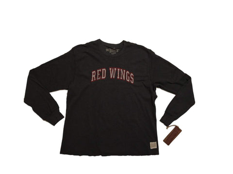 Shop Detroit Red Wings Retro Brand Charcoal Lightweight Waffle Pullover Sweatshirt