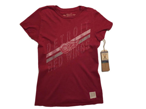 Shop Detroit Red Wings Retro Brand WOMEN Red Vintage Cotton Short Sleeve T-Shirt