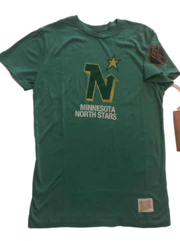 Minnesota North Stars Retro Brand Green Soft Cotton Short Sleeve T-Shirt