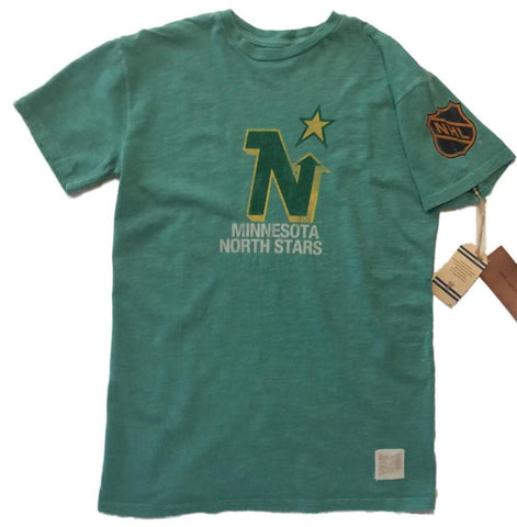 Minnesota North Stars Retro Brand Vintage Green Short Sleeve Slub T-Shirt
