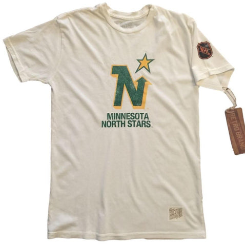 Minnesota North Stars Retro Brand Off-White Cotton Short Sleeve T-Shirt