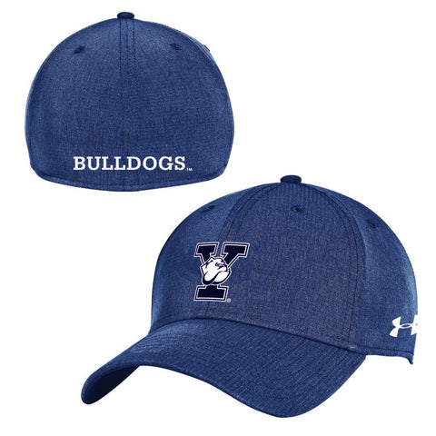 Shop Yale Bulldogs Under Armour Mens Sideline AirVent Stretch Fit Navy Hat Cap
