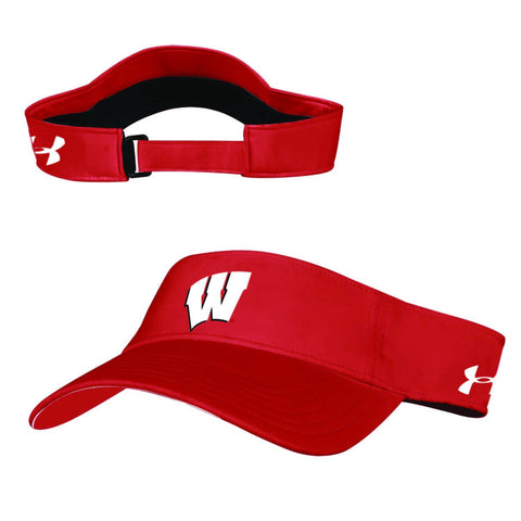 Wisconsin Badgers Under Armour Sideline Renegade Low Profile Adj Visor Cap