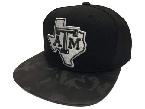 Shop Texas A&M Aggies Adidas Flat Bill Black Camo Snapback Adjustable Hat Cap