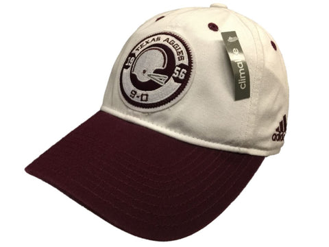Texas A&M Aggies Adidas Maroon White Climalite Adjustable Strap Clasp Hat Cap