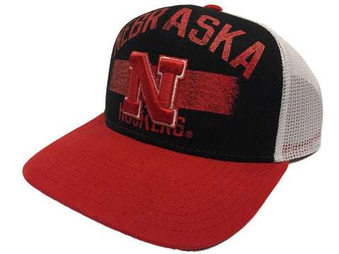 Nebraska Cornhuskers Adidas Mesh Snapback Structured Adjustable Hat Cap