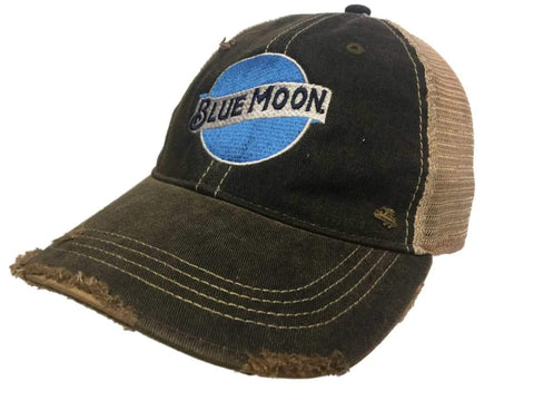 Blue Moon Brewing Company Retro Brand Vintage Mesh Beer Charcoal Adj Hat Cap