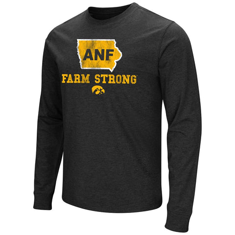 Iowa Hawkeyes Colosseum America Needs Farmers ANF Farm Strong LS T-Shirt