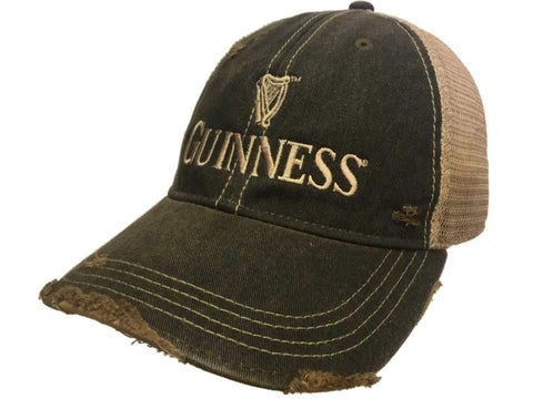 Guinness Beer Retro Brand Gray Mesh Adjustable Snapback Trucker Hat Cap