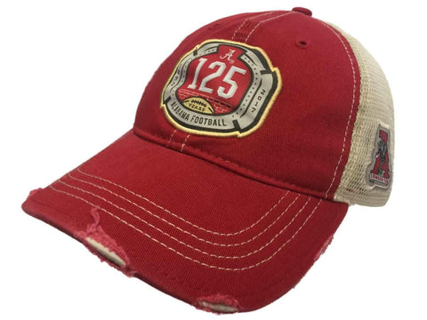 Alabama Crimson Tide Retro Brand 125 Years Football Mesh Tattered Slouch Hat Cap