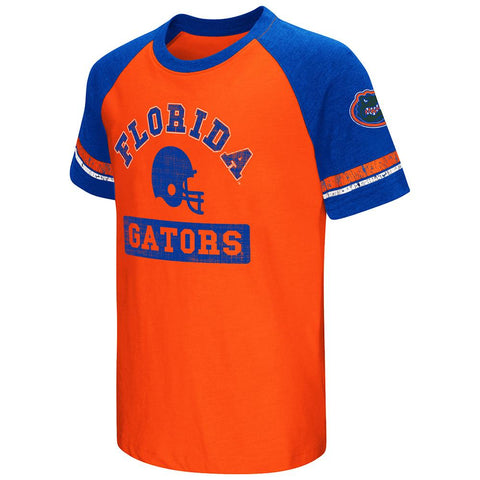 Shop Florida Gators Colosseum Youth Raglan All Pro Short Sleeve Blue Orange T-Shirt