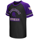 Washington Huskies Colosseum Youth Raglan All Pro Short Sleeve T-Shirt