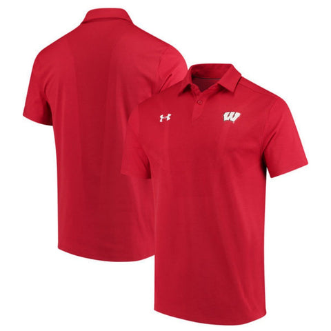 Wisconsin Badgers Under Armour Coaches Sideline Tour Performance Polo Shirt