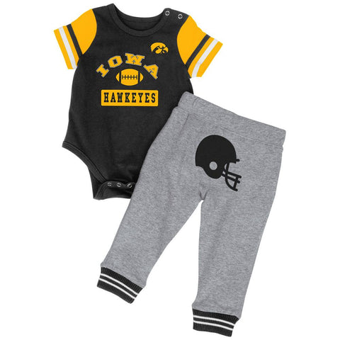 Shop Iowa Hawkeyes Colosseum Infant Boys MVP One Piece Outfit and Sweatpants Set