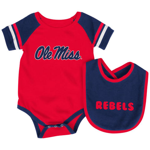 Shop Ole Miss Rebels Colosseum Roll-Out Infant One Piece Outfit and Bib Set