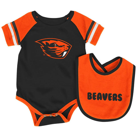 Shop Oregon State Beavers Colosseum Roll-Out Infant One Piece Outfit and Bib Set