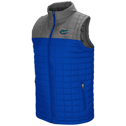 Florida Gators Colosseum Amplitude Puff Full Zip 2 Tone Blue Gray Vest