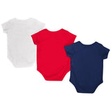 Arizona Wildcats Colosseum Navy Red White Infant One Piece Outfits - 3 Pack