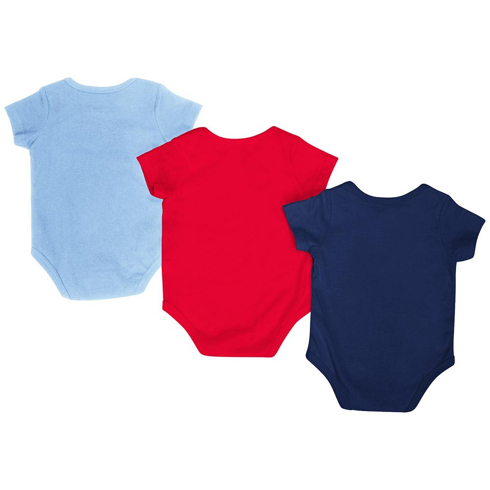 promo code a8259 6fe5f Ole Miss Rebels Colosseum Red White Gray Infant One Piece Outfits - 3 Pack