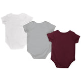 Texas A&M Aggies Colosseum Red White Gray Infant One Piece Outfits - 3 Pack