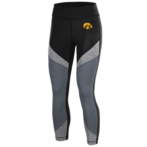 Shop Iowa Hawkeyes Under Armour Women Compression Black Crop Leggings