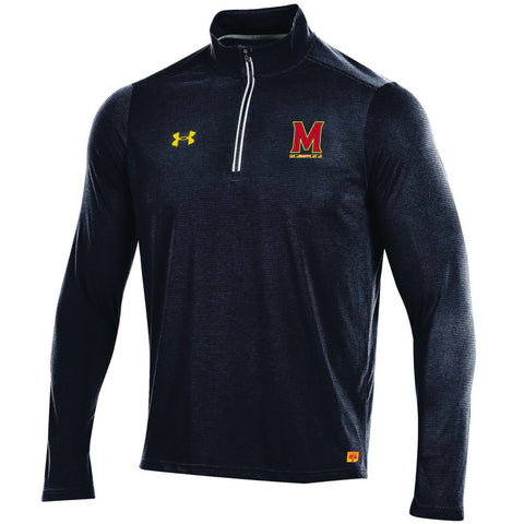 Shop Maryland Terrapins Under Armour Sideline On Field 1/4 Zip Light Pullover Jacket