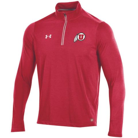 Shop Utah Utes Under Armour Sideline On Field Microthread Light Pullover Red Jacket